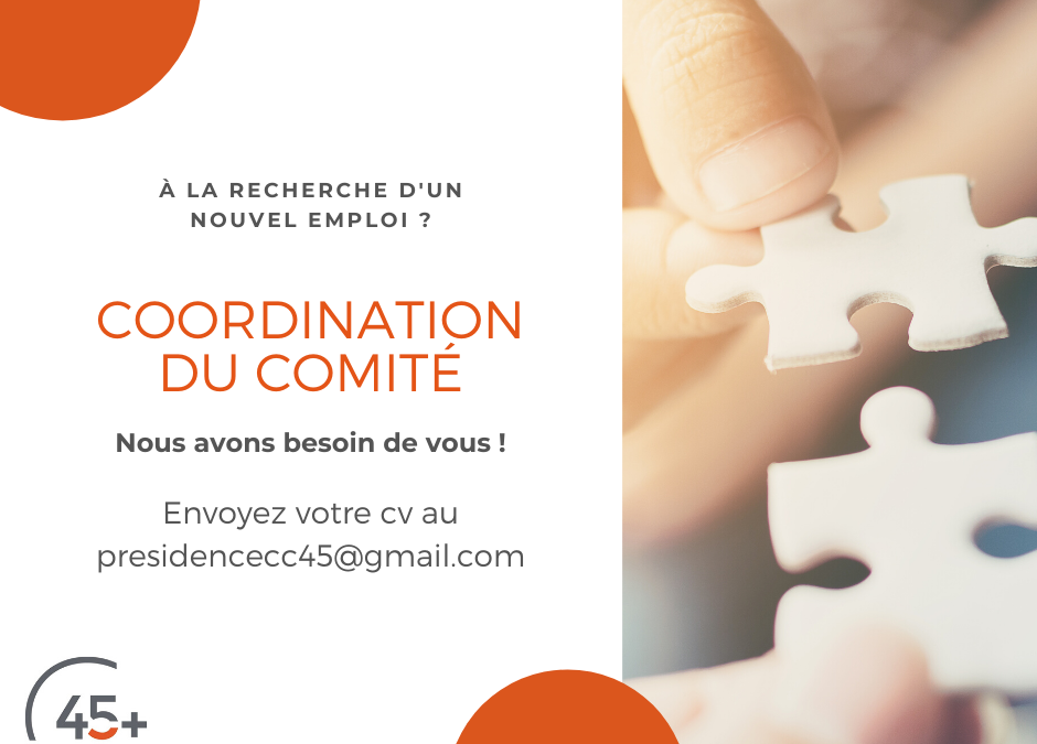 Offre d'emploi – Coordination du Comité consultatif 45 ans et +